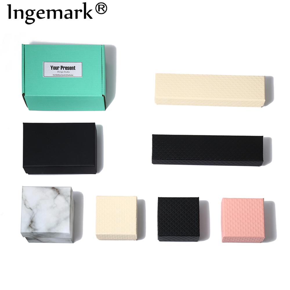 Ingemark Beautiful Gift Box Cardboard Handmade Packing Box For Necklace Earring Bracelet Anklet Jewelery Carton Present Box Girl