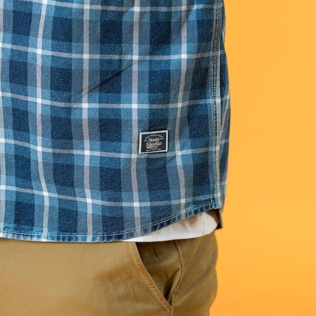 Indigo Plaid Shirts with two checkers