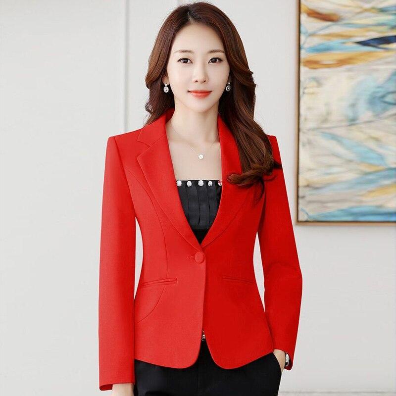 Femme Jackets Women's Blazer 2020 Long Sleeve Blazers Pockets Jackets Coat Slim Office Lady Jacket Female Tops Suit Blazer
