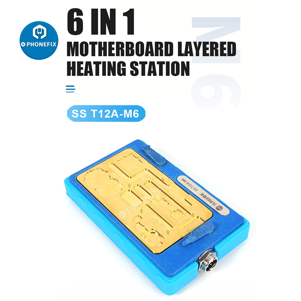 SS-T12A M6 Pre-Heating Platform Mainboard Layered Heating Station for iPhone X-11 Pro Max BGA Desoldering NAND PCB Glue Removal