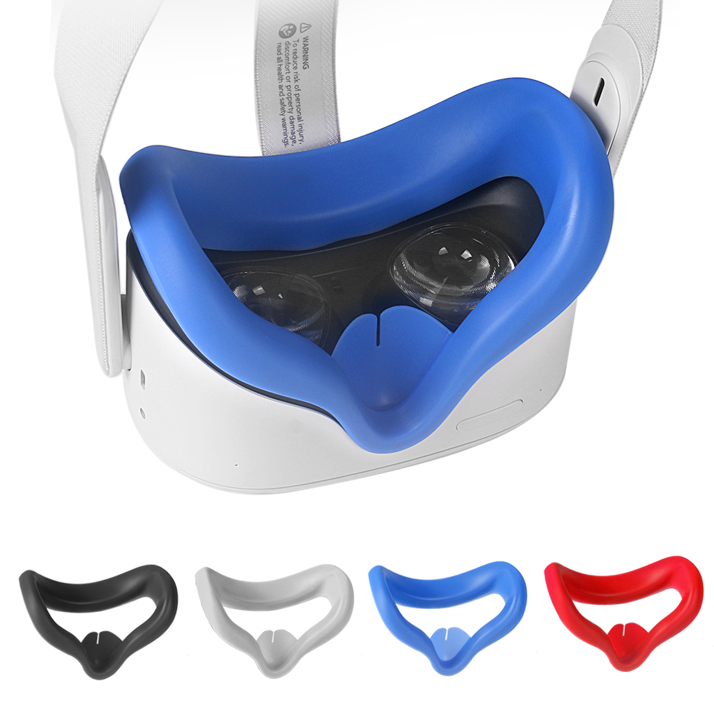 Silicone máscara de olho almofada de cobertura para oculus quest 2 vr fone de ouvido respirável anti-suor luz de bloqueio de olho capa para oculus quest2