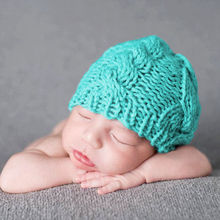 купить Winter Crochet Baby hat Earmuff Earcap Knit Toddler Beanie Newborn Kids Baby Boy Girl Cute Hats Soft knitted warm hat H831S онлайн