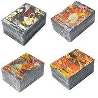 Tarjeta de Pokemon versión francesa con 100 GX 80EX 60 TAG TEAM 50 VMAX 20 MEGA juego de batalla, juguetes para colección para niños, regalo