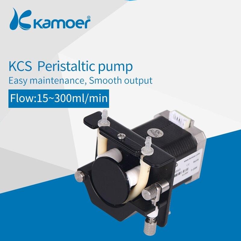 Kamoer KCS маленький перистальтический насос с шаговым мотором, электрический мини водяной насос 24 В с высокоточным жидким насосом