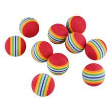 Ten Packs 38mm Rainbow Golf Ball Indoor Exercise High Elastic Soft EVA