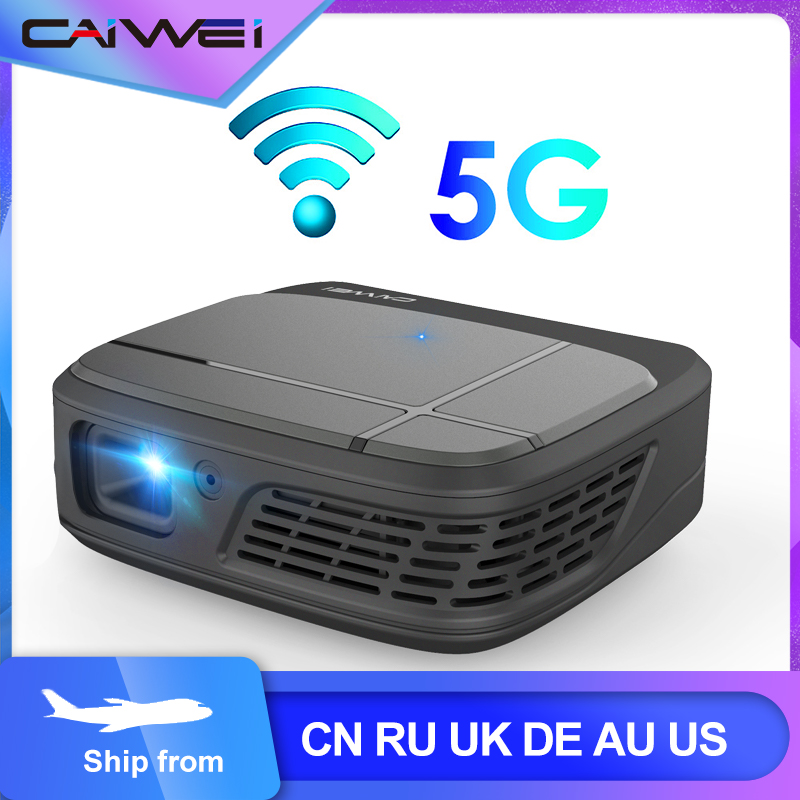 Mini 4K Phone Projector Caiwei H6AB Android 7.1 Dual WIFI Bluetooth 4.0 Mobile Projector Full HD DLP Portable For Home Theater image