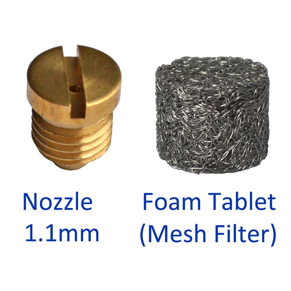 Mesh Filter/ Foam Tablet & Nozzle For Snow Foam Lance/ Foam Cannon/ High Pressure Soap Foamer