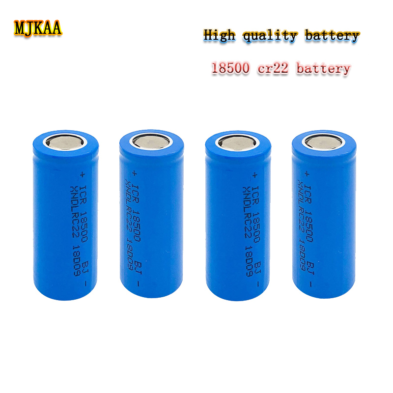 2 PCS <font><b>3.7V</b></font> <font><b>18500</b></font> Lithium-<font><b>ion</b></font> <font><b>Battery</b></font> RC22 Rechargeable <font><b>Battery</b></font> Can Be Used for Electronic Cigarette Toys image