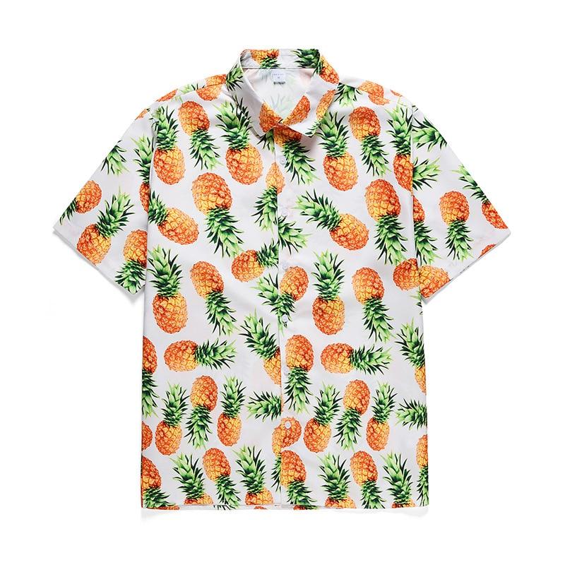 2020 Casual Printed Hawaiian Men Shirt Summer Camisa Masculina Streetwear Fashion White Short-Sleeve Holiday Ropa Hombre Blusa