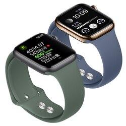 Спортивный силиконовый ремешок для apple iwatch серии 5/4/3/2/1, сменный ремешок для наручных часов, ремешок для apple watch 42mm 44 мм, 38 мм, 40 мм
