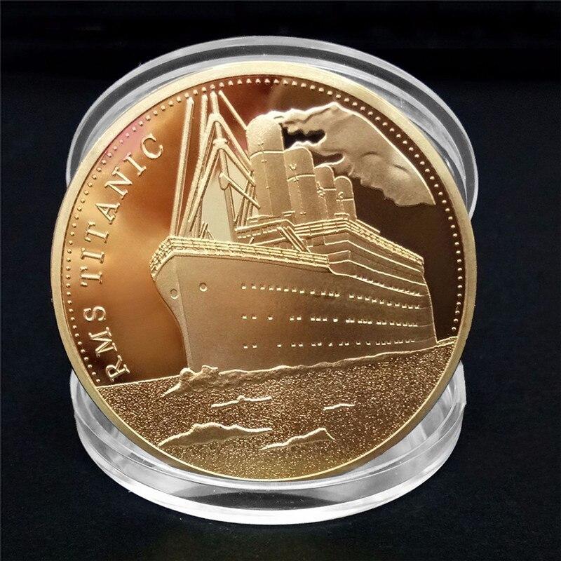 Корабль «Титаник» 1 шт., юбилейная монета, инцидент «Титаник», Коллекционирование биткоина, украшение для дома
