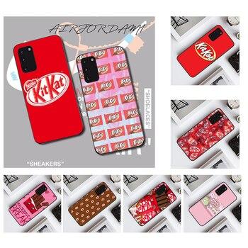 NBDRUICAI kit kat chocolate kitkat Black TPU Soft Phone Case Cover for Samsung S20 plus Ultra S6 S7 edge S8 S9 plus S10 5G