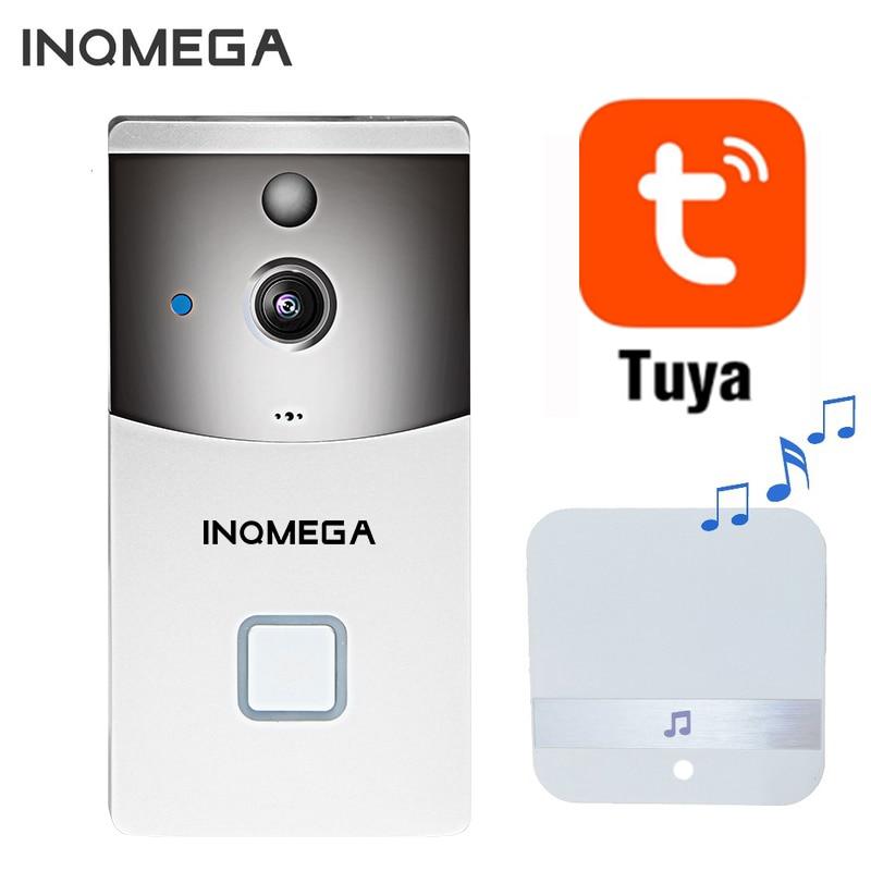 INQMEGA Tuya Video Doorbell Wireless Phone Home Security Camera Doorbell Alarm Remote Control Night Vision Smart Wifi Doorbell