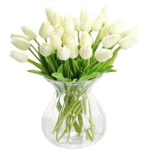 8season 10pcs PU tulip simulation flower Artificial Flowers wedding bouquet for Home Furnishing decoration