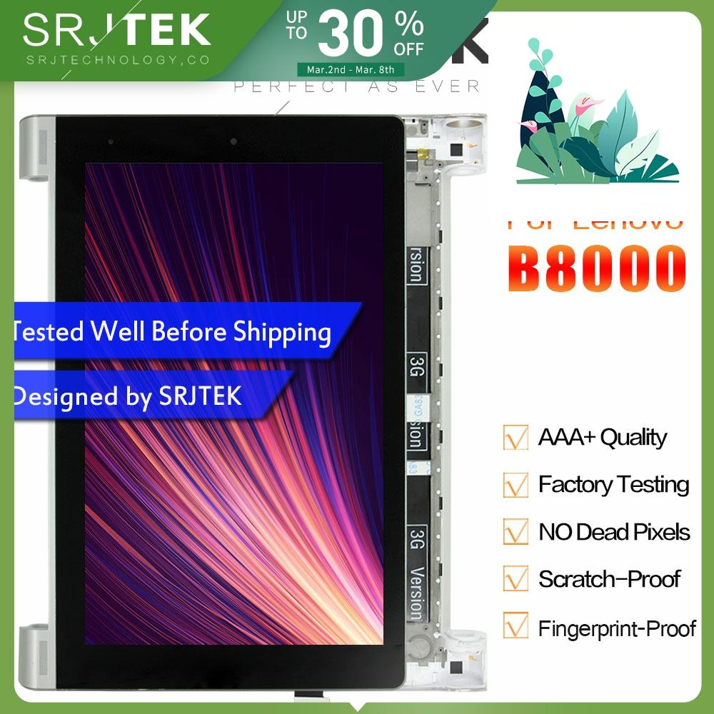 SRJTEK 10.1 LCD For Lenovo B8000 Yoga Tablet 10 60047 LCD Screen Matrix Display Touch Digitizer Sensor Full Assembly With Frame image