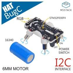 M5stack bugc base de robô programável compatível com o controlador m5stickc stm32f030f4 micro