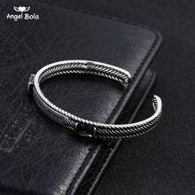 Черный cz старинный посеребренный браслет Будды Банкетный аксессуар