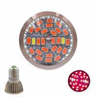 Full Spectrum E27 LED Grow Light 85-265V Indoor Led Grow Lamp for Plants Hydroponics Flowers Vegetables Grow Led Lamp
