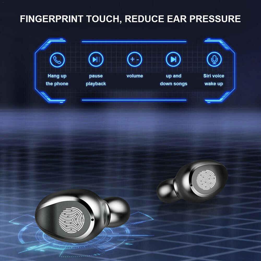 Auriculares inalámbricos bluetooth F9 tws con pantalla LED en auriculares deportivos con micrófono fone de ouvido
