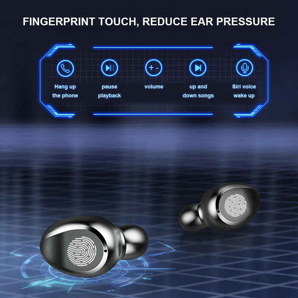 Hot F9 tws wireless bluetooth headphone LED display in earphone headset sports earbuds with microphone fone de ouvido