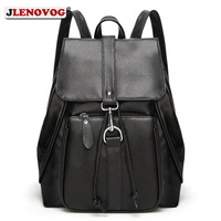 Women Fashion Natural Leather Backpacks High Quality Black School Backpack Bags for Teenage Girls Female Large Capacity Mochilas