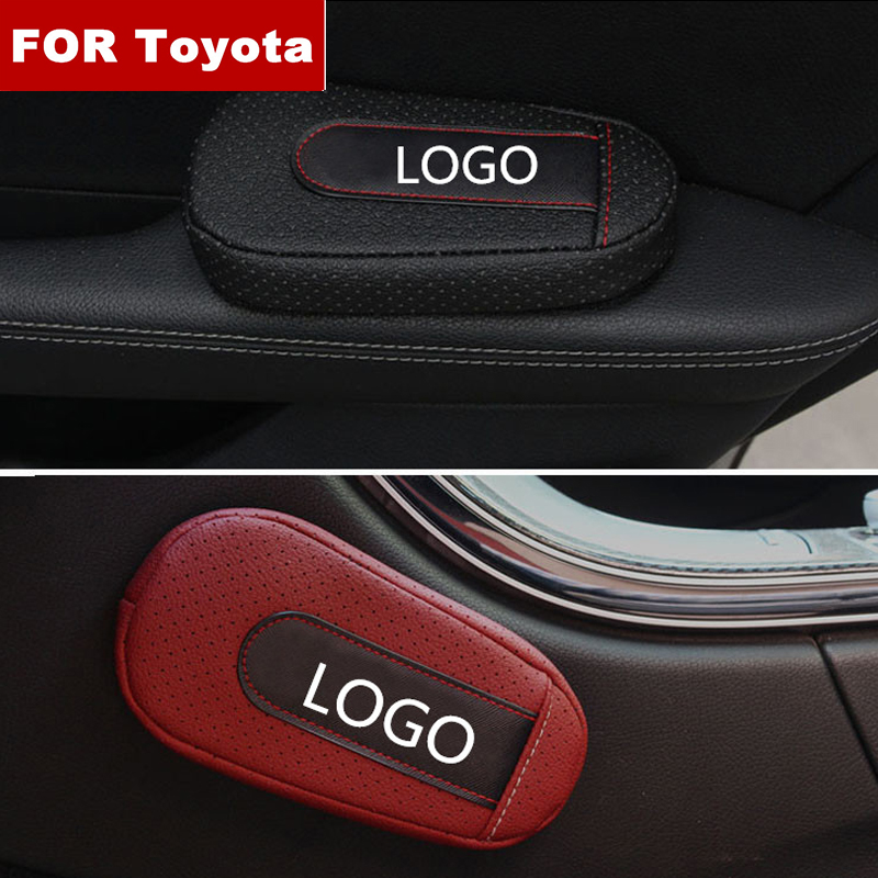 Car Accessories Soft and Comfortable Foot Support Cushion Car Door Arm Pad Car Styling For Toyota logo Camry Land Cruiser rav4