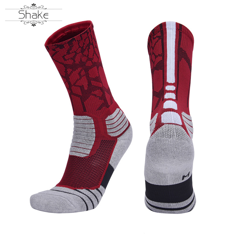 Custom Logo Combed Cotton Men's Outdoor Breathable Bicycle Socks Sports Running Cycling Stockings Basketball Crew Socks