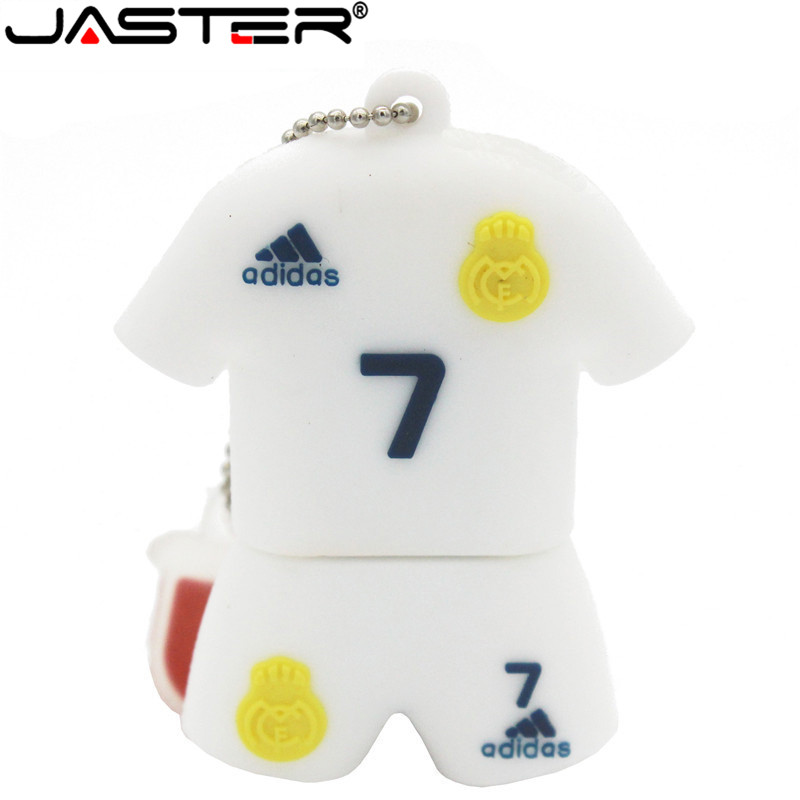 JASTER World Cup Soccer Cristiano Ronaldo  USB Flash Drive Pendrive 4gb 16gb 32gb 64GB Usb Stick Memory Usb Flash Drive