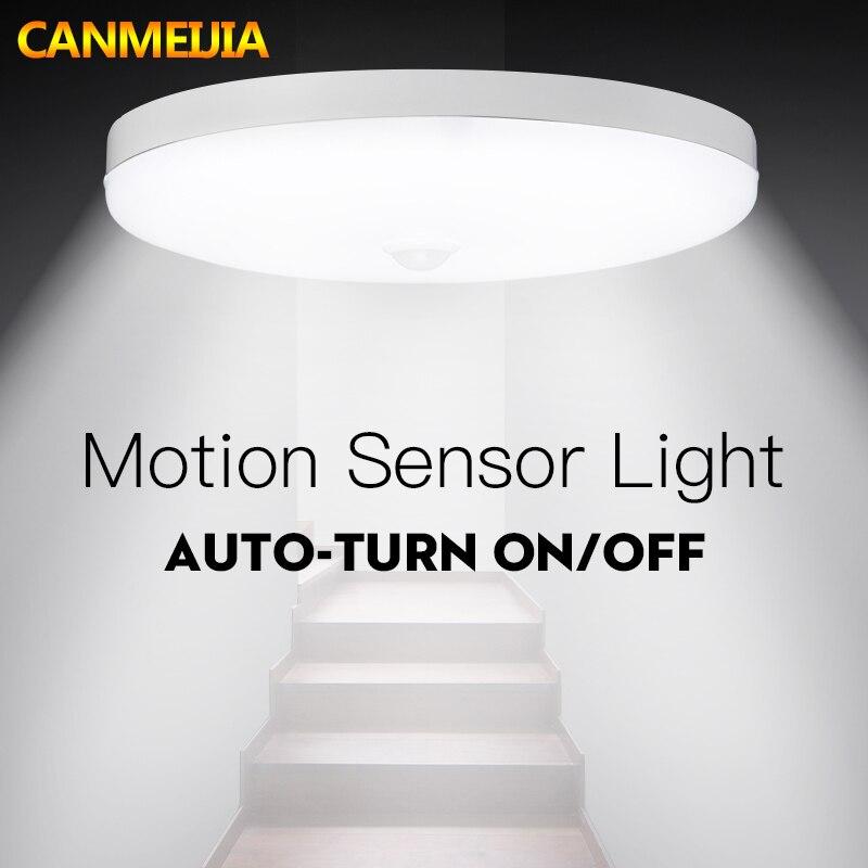 LED suitable flush mounted SEBSON Mini PIR Sensor Indoor ceiling mounting for installation infrared motion sensor range 6m // 360/° programmable