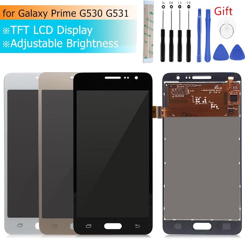 Para Samsung GALAXY Grande Prime g530 lcd Screen display lcd de Toque digitador Assembléia G531H G531f G531FZ G530 Peças de Reparo de exibição