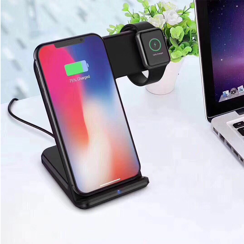 Wireless Charging Mobile Phone Charger Station Qi Multi Function Charging Stand with QC 3.0 Fast Charger for Iphone for Iwatch