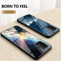 На Алиэкспресс купить стекло для смартфона luxury starry sky glass case for samsung galaxy m31 m11 m10 m20 hard cover for samsung m30s m60s m80s anti-fall protection case
