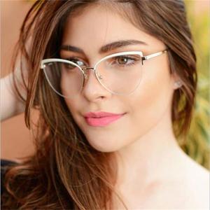 Fashion blue light cat eye glasses Black red blue eyebrows frames optical glasses frame vintage retro glasses spectacles