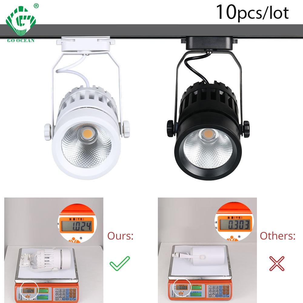 2 30W LED Faixa Luz/3/4 fio Luzes da Trilha COB Holofotes Trilho De Alumínio Pode Ser Escurecido Spot Lamp casa Noturna Interior Luminárias