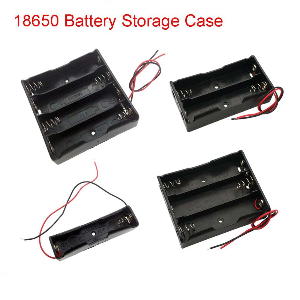 1 2 3 4 18650 Battery Storage Box Case DIY 1 2 3 4 Slot Way