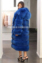 Blue Long Fox Faux Fur