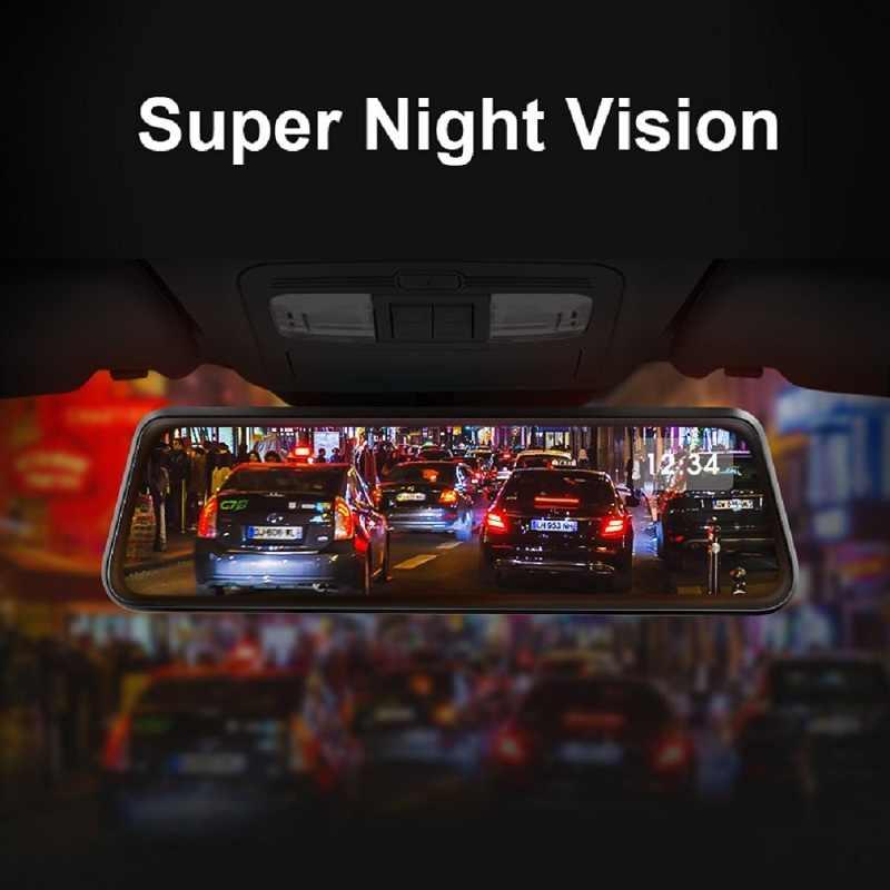 2019 GPS coche espejo retrovisor Auto grabador 4G Android 8,1 coche DVR espejo retrovisor con cámara Dash Cámara FHD Dash Cam