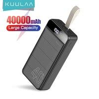 KUULAA Banco de la energía 40000 mAh de carga portátil banco de energía 40000 mAh USB PoverBank cargador de batería externo para Xiaomi Mi 9 8 iPhone