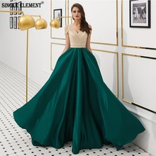 SINGLE ELEMENT Mother Of The Bride Dresses Formal 2019 Emerald Green Gown