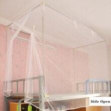 Спальная верхняя двухъярусная москитная сетка с боковым открыванием кровать сетка с москитом крючок с сетью для 1 м 1,2 м двухъярусная кровать белый синий фиолетовый цвет навес