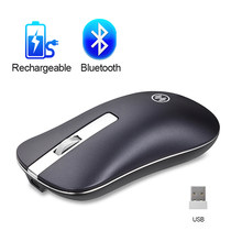 Bluetooth Wireless Mouse Silent Mouse Gaming Isi Ulang Komputer Mouse Nirkabel 2.4G Hz Ergonomis PC USB Mause untuk Laptop(China)