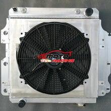 Абсолютно алюминиевый кожух+ вентилятор для Jeep Wrangler YJ/TJ 2.4L-4.2L 1987-2006 88 89 90 91 92
