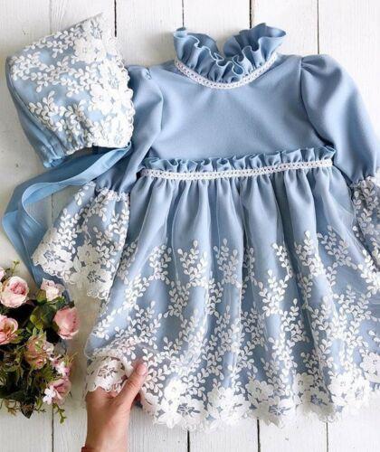 Кружевное платье принцессы с цветочным узором для девочек в американском стиле детские вечерние торжественные платья на свадьбу