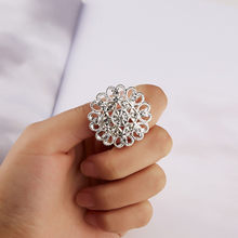 Best Fashion Gift Rhinestone Brooch Flower Brooch For Bride Women Wedding Party Decoration Glamorous Jewelry(China)