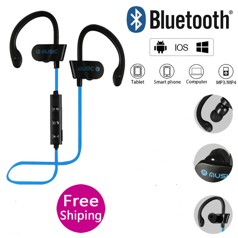 NC RT558 Bluetooth Earphone Wireless Sport Bass Earbuds With Mic Jogging For IOS Android Bluetooth Smartphone