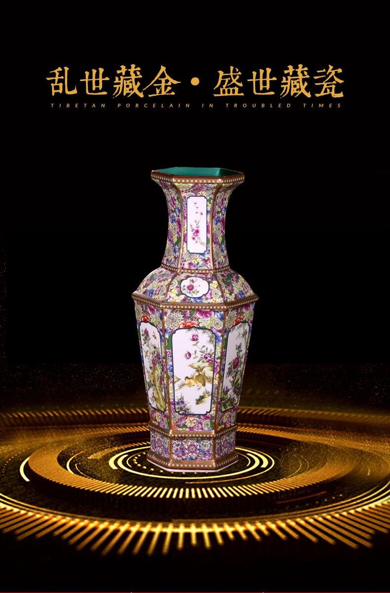 Jingdezhen Vaso de Cerâmica Antigo Grande Vaso
