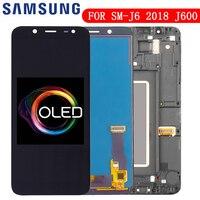 Original 5.6 super super super amoled lcd para samsung galaxy j6 2018 j600f j600 display com montagem da tela de toque peças reposição|LCDs de celular| |  -