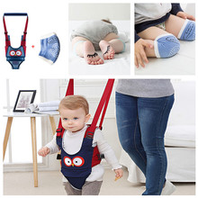 Baby Walker Toddler Training Kids And Cushion Belt-Assistant Leash Knee-Pad Crawling-Elbow