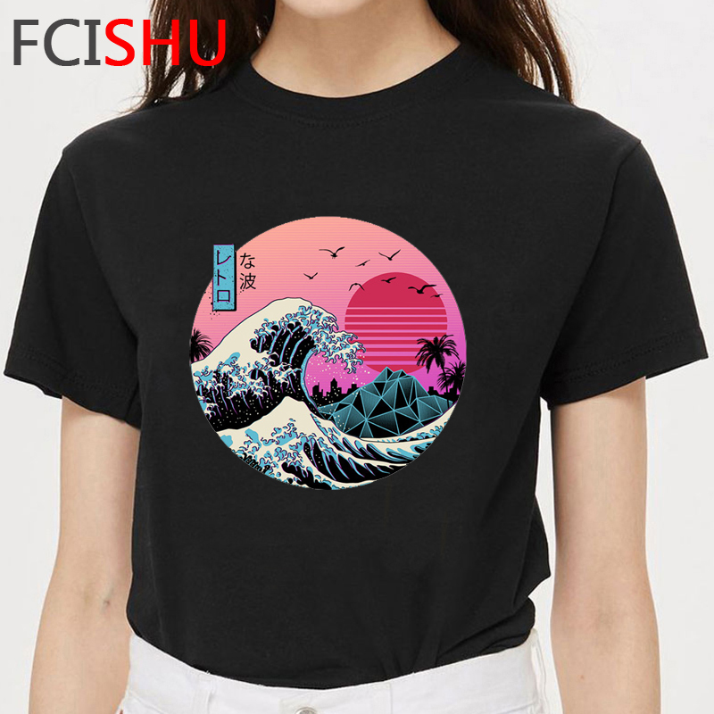 Vaporwave Aesthetic Funny Cartoon T Shirt Men Unisex Cool Graphic T-shirt Anime Streetwear Tshirt Summer Hip Hop Top Tees Male image