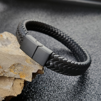Punk Braclets Charm black/brown Man Bracelets With 16 strands Braided Leather Stainless Steel Magnetic Clasp rope women jewelry trendy mens bracelets white braided leather rope bracelet jewelry stainless steel magnetic clasp fashion male wristband sp0006